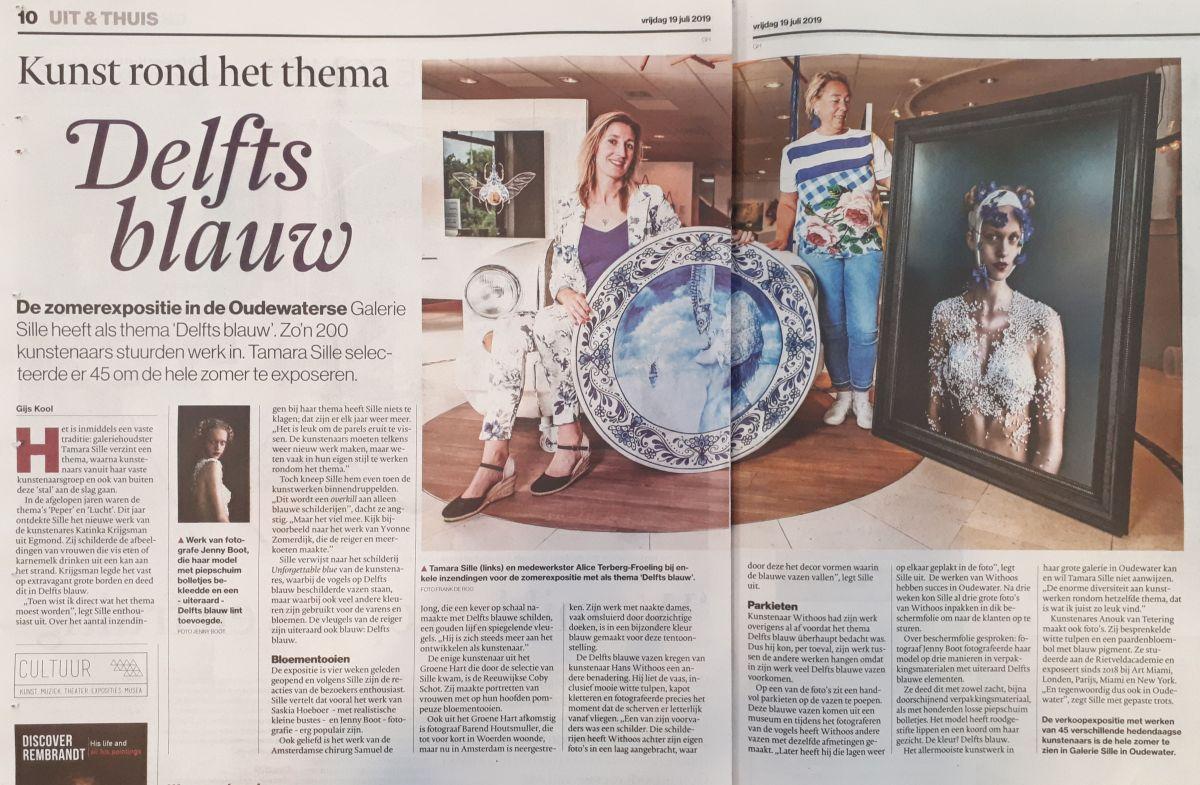 Groot artikel in het AD over de zomerexpositie Delfts blauw!